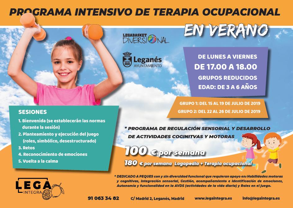 Programa de Terapia Ocupacional en verano