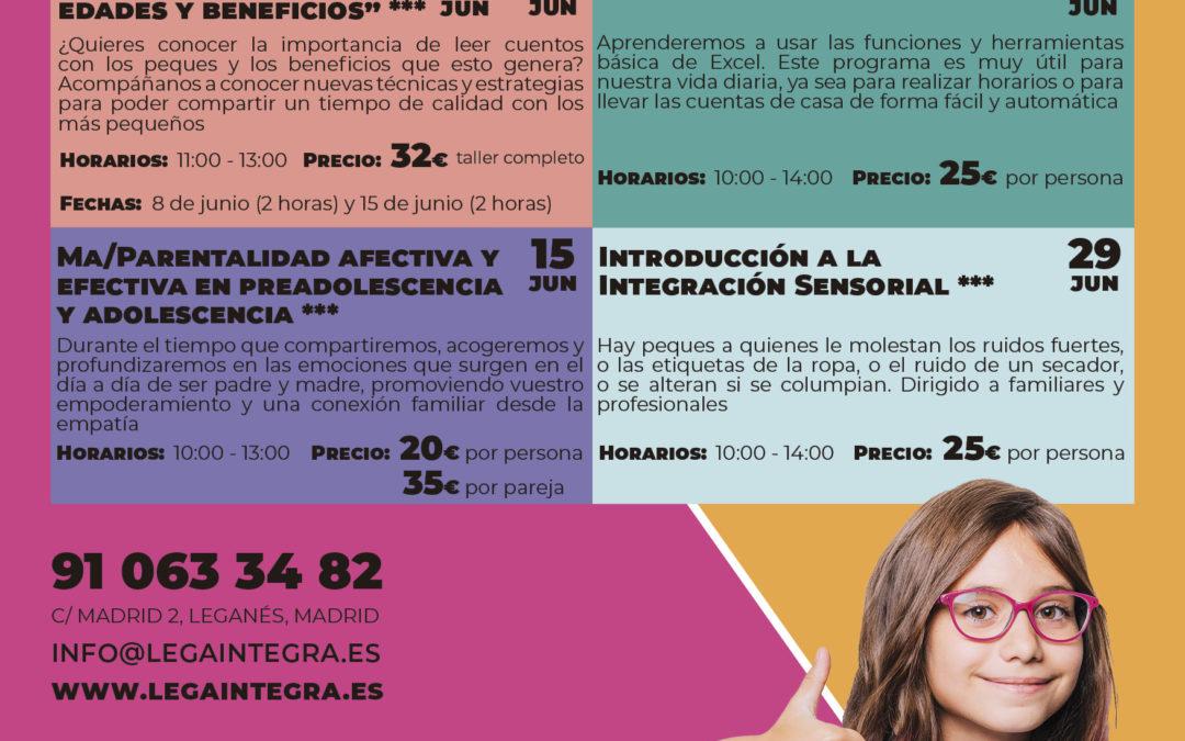 Actividades para los sábados de junio en Lega Integra