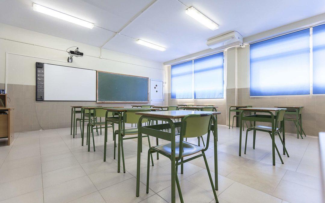 Solamente la mitad del alumnado podrá volver a las aulas en septiembre